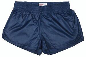Navy-Blue-Shiny-Short-Nylon-Shorts-by-Soffe-Size-XS