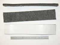1.5x8 In Soft Felt Pad Strip 1/4 Thick Self Stick Tape Gray