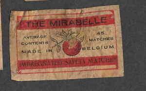 Ancienne étiquette allumette Belgique NN60 Fruit 1YovQNkM-09105211-170650957