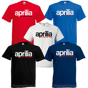 New-Mens-Aprilia-Racing-Tribute-T-Shirt-Sizes-Small-to-3XL-Choice-Of-Colours