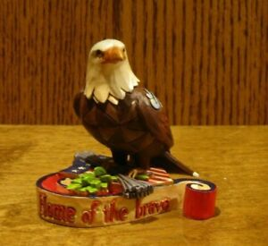 Jim-Shore-Heartwood-Creek-Minis-4037682-PATRIOTIC-EAGLE-New-From-Retail-Store