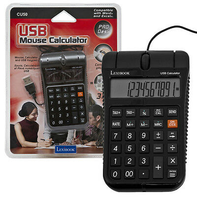 Lexibook 3 In 1 Usb PC Optical Mouse Calculator & Keyboard Computer Laptop Black