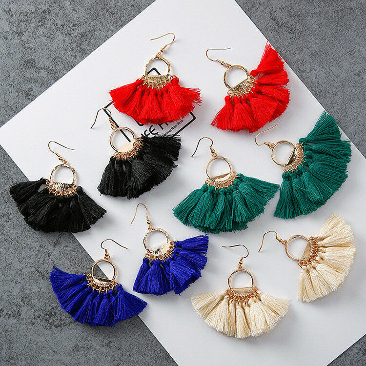 Fan Shaped Tassel Earring