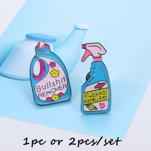 Pins and Brooches Bullshit Remover Repellent Funny Cleaning Enamel Pins Brooch