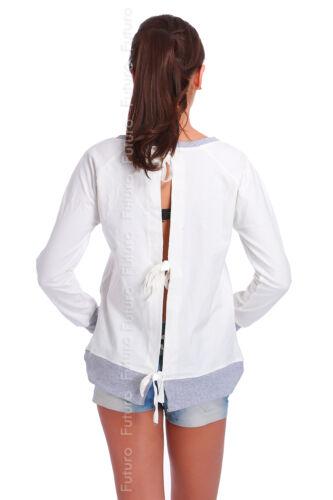 Royaume-Uni Haut Décontracté avec poches attachées à l/'arrière Pull Coton Tunique Taille 8-12 FT1841