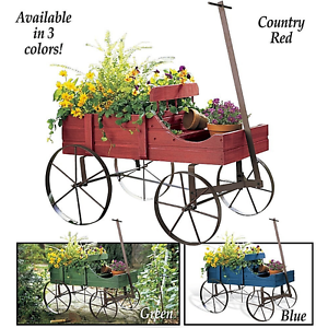Image Is Loading Amish Wagon Garden Planter Rustic Cart Outdoor Flower