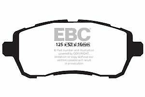 DPX2002 EBC Ultimax Front Brake Pads fit for D for D  Fiesta