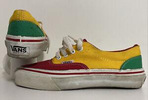 Details about Vintage VANS Shoes Made in USA Clown size 5.5 Skateboard BMX sk8 old skool