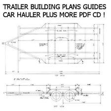 Trailer Plans Custom CD + Tow Dolly, Car Hauler, Flatbed, Various Designs *Nice*