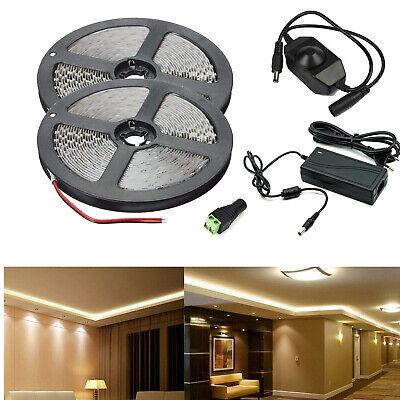 5m-20m 5050 2835 LED Strip Streifen Band Lichtleiste warm kalt weiß Wasserdicht
