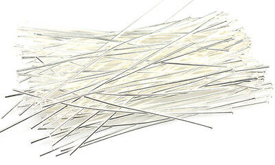 100 Silver Plated Headpins 21 Gauge 3 Inch