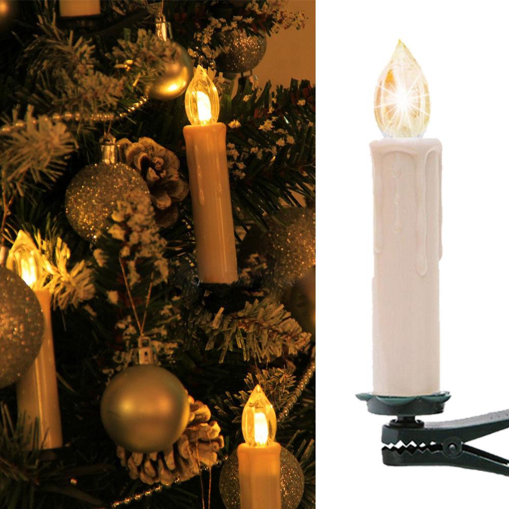 LED Weihnachtskerzen Weihnachtskerzen Weihnachtskerzen Lichterkette Kabellos Weihnachtsbaumbeleuchtung Warmweiß 4c4113