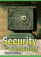 Security in Computing 4th ed. by Charles P. Pfleeger and Shari Lawrence Pfleeger