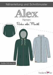 Papierschnittmuster Parka/Jacket/Coat By Fadenkäfer Size 2XS To 4 XL L