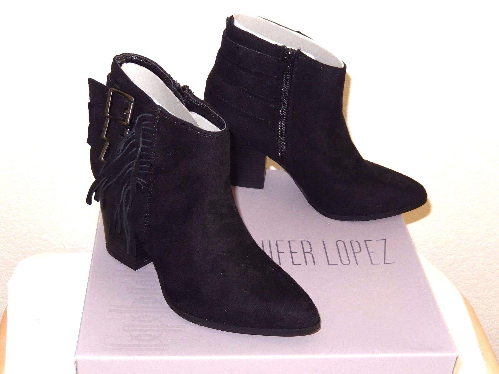 Jennifer Lopez WRENNN Ankle Stiefel-6.5, schwarz--Attractive fringe/buckle fringe/buckle fringe/buckle deco  90 131abc