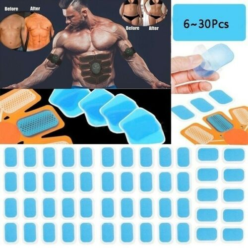 6//12//20//30 PCS Trainer Replacement Gel Pad Abdominal Toning Belt Accessories ABS