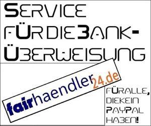 Banküberweisung SERVICE - Für alle die kein PayPal haben - Wertmarke Coupon fh24