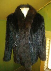 Vintage Black Fox Fur Collar