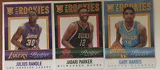 2014-15 Prestige Mystery Rookies Lot of 3! Randle, Parker & Harris! Lakers Bucks