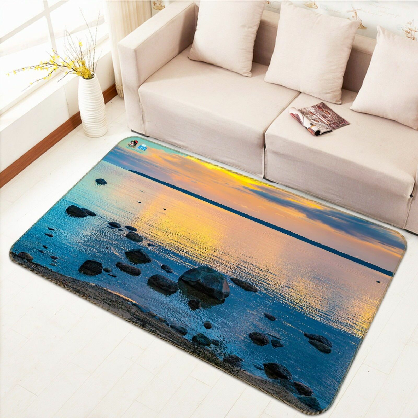 3D Dusk Lake View 363 Non Slip Rug Mat Room Mat Quality Elegant Photo Carpet AU
