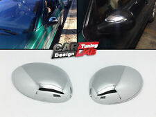 (2) Chrome Side Door Mirror Cap Overlay Cover for Peugeot 206 206cc Citroen C3