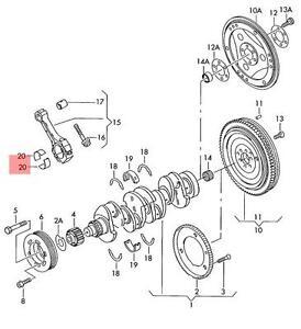 connecting rod bearing shell audi vw 06d105701aglb ebay rh ebay com Audi A4 Owner's Manual 2001 Audi A4 Manual