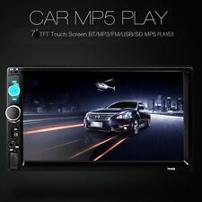 """7"""" Double 2 DIN Car Stereo MP5 MP3 Player Bluetooth Touch Screen Radio HD USA"""