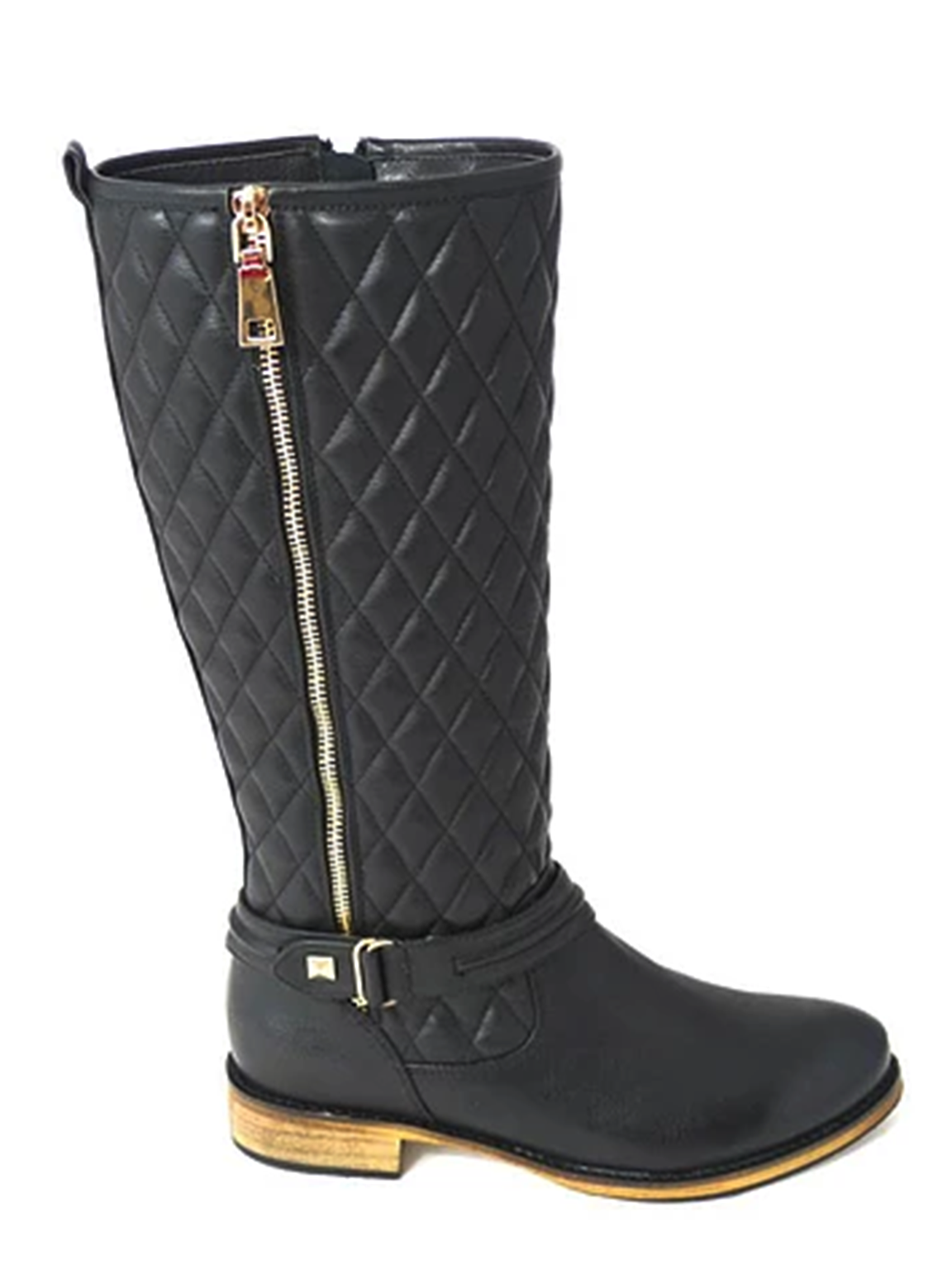 damen MID CALF A127-7H FAUX FAUX FAUX LEATHER LOOK LOW FLAT HEEL RIDDING Stiefel UK 3-8   4ab273