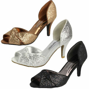 Anne-Michelle-F10309-Ladies-Glitter-3-034-Slim-Heeled-Evening-Party-Sandals-SALE