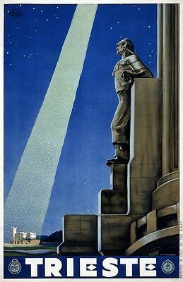 TX304 Vintage 1930/'s Trieste Italy Italian Travel Poster Re-Print A1//A2//A3//A4