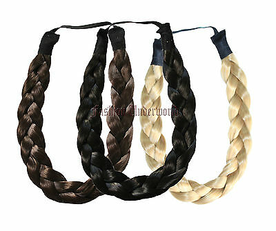 Aktiv Chunky Plait High Quality Plaited Thick Headband Available In 14 Natural Colours
