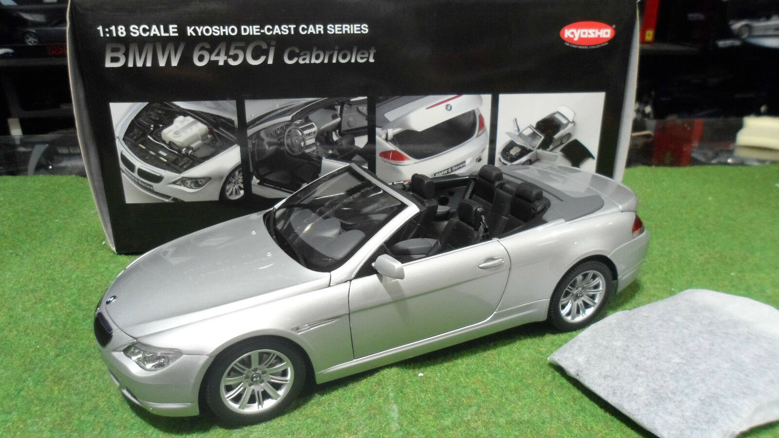 BMW 645 Ci Cabriolet Convertible 1/18  KYOSHO 08702S voiture miniature collectio