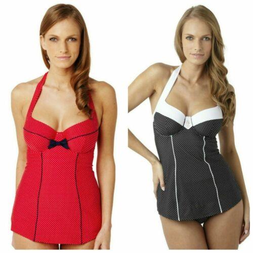 Panache Britt SW0820 Red or Black Spot Swimsuit Swimdress