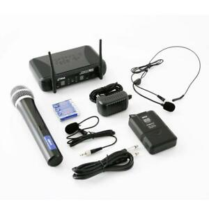 PYLE PDWM3378 UHF Wireless Microphone System Kit, Includes Handheld Mic, Headset Mic, Lavalier Mic & Beltpack Toronto (GTA) Preview