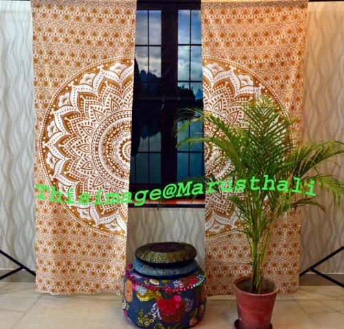 Indian Mandala Ombre Window Curtain Drape Room Decor Throw Lot of 3 Set Curtains