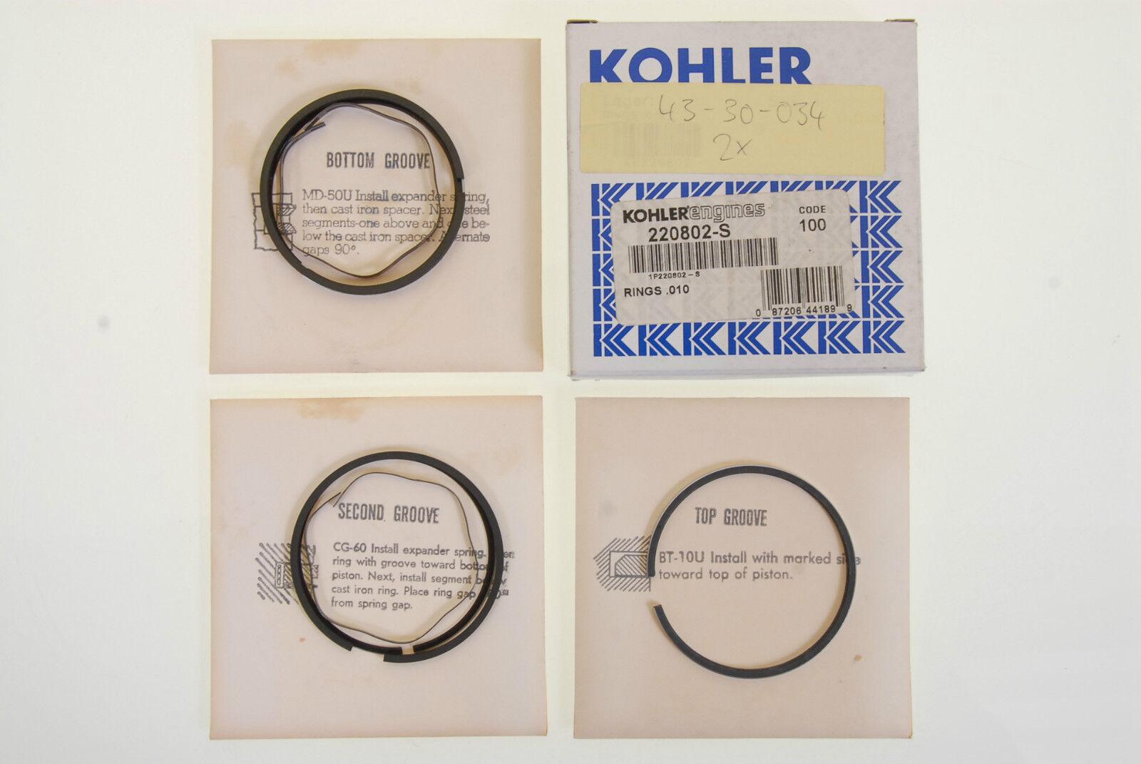 Anillo de pistón frase kohler 220802-s nuevo  43-30-034