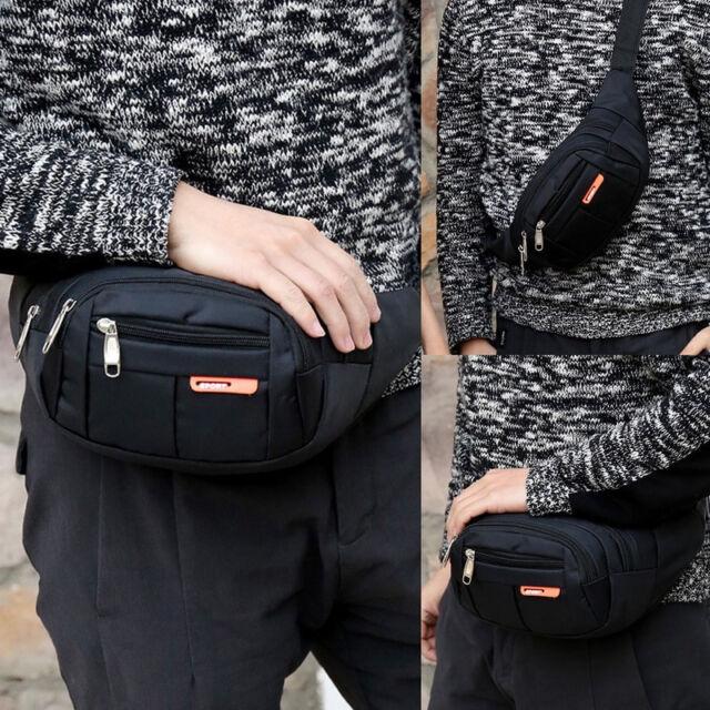 Waist Pack Pochette Unisexe Femme Fille Mode Rivets en Plein Air Hasp Couleur Unie Sac De Poitrine L/éger pour Jogging//Balade//Escalade//Voyage//Randonn/ée Sac /à la Taille Ceinture