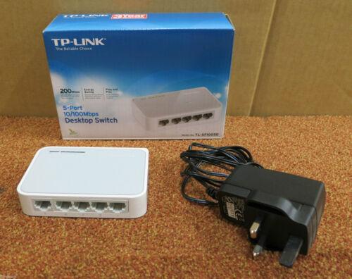 TP-Link 5-Port 10//100Mbps Desktop Switch TL-SF1005D 1730502038 Inc Power Adapter