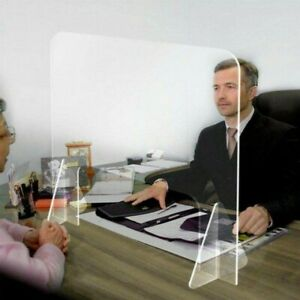 Clear Acrylic Plexiglass Sneeze Guard Barrier Food Shield Desk Tabletop Divider