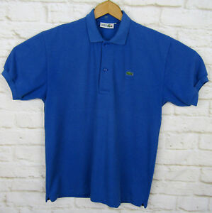 05432f12299c0 Image is loading Vintage-Chemise-Lacoste-Polo-Shirt-Blue-Short-Sleeve-