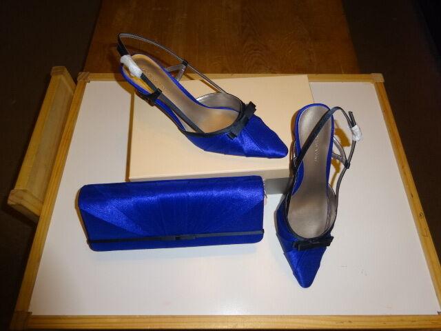 Jacques verde zapatos y que empareja Clutch Bag-Azul Negro Talla Talla Talla 4-Nuevo  Entrega directa y rápida de fábrica