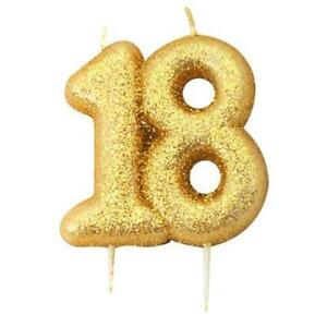 18th-Birthday-Cake-Candle-Gold-Anniversary-Glitter-Age-Number-Party-Topper-Gift