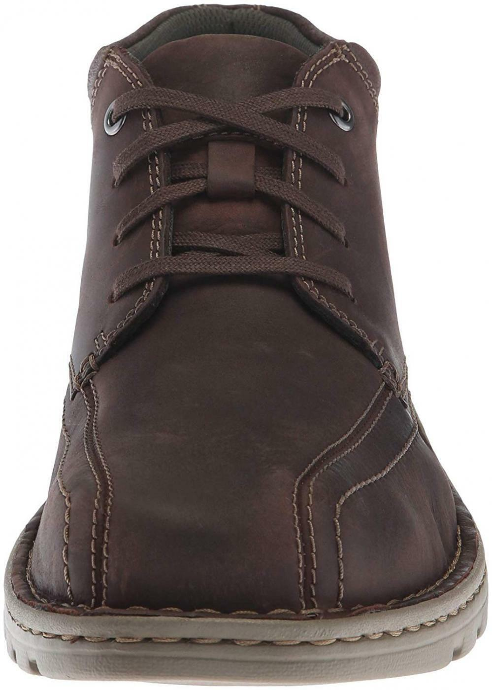 CLARKS Men's Vanek Mid Leather Ankle Boots Boots Boots Comfort Casual Walking shoes 6c3731