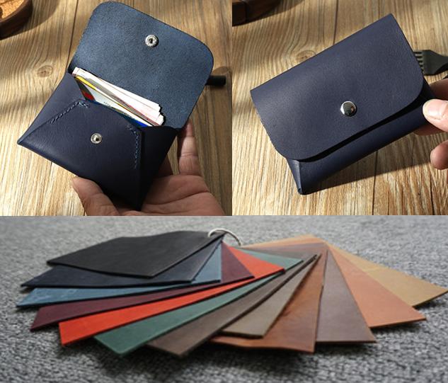 men women wallet purse cow Leather Card bag Case bifold customize black Z719