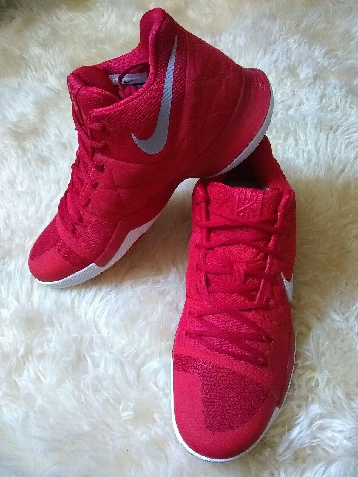 fff6d9641911bd Nike Kyrie 3 University Red Suede 852395 601 Basketball Basketball  Basketball Men s Sneakers Size 13 8de2c7