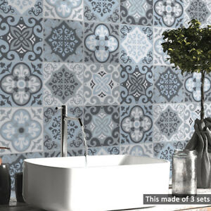 Pvc Waterproof Self Adhesive Tile Wall Sticker Wallpaper Bathroom Home Decor Ebay