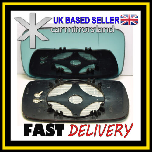 Right Driver Side Wing Mirror Glass HEATED BLUE ASPHERIC BMW 3 E46 COMPACT 98-05