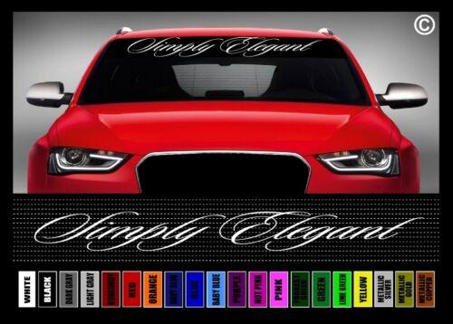 "40/"" Simply Elegant JDM Street Racing Clean Car Decal Sticker Windshield Banner"