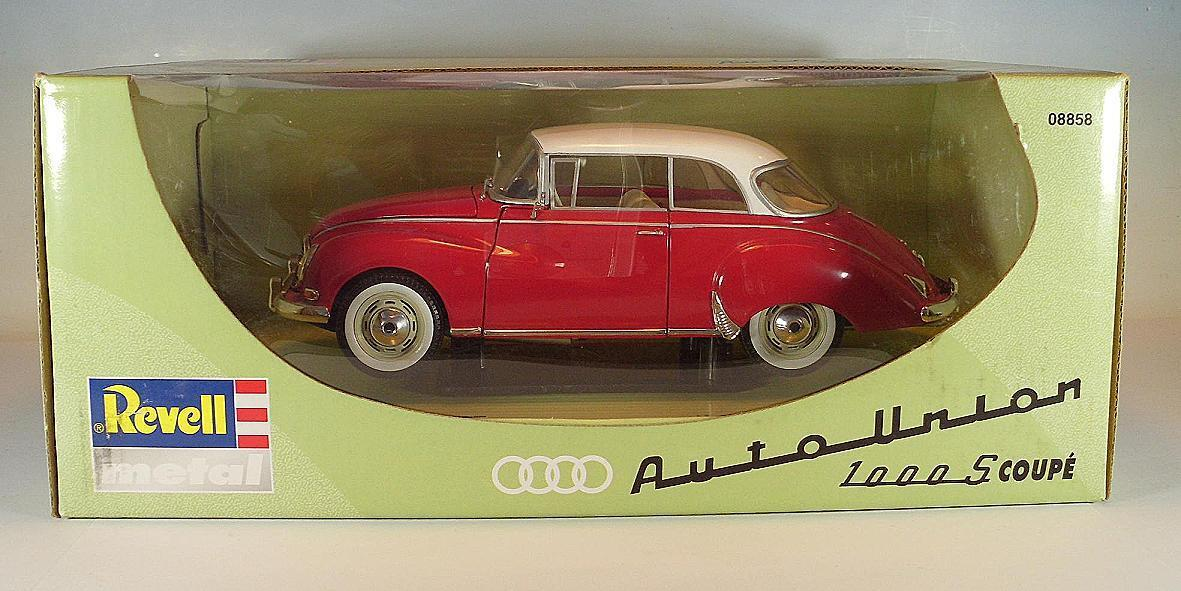 Revell 1 18 Auto Union 1000 S Coupe red mit whiteem Dach OVP