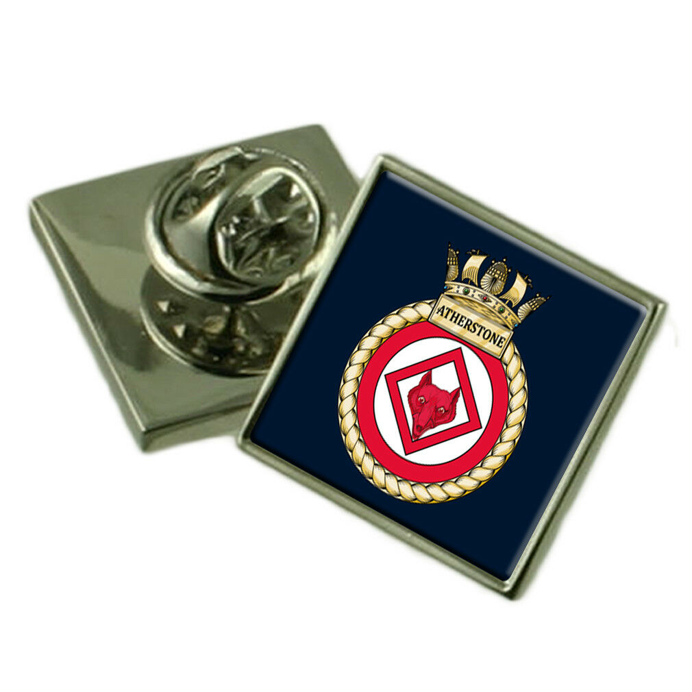 Royal Navy HMS Atherstone Sterling Lapel Pin Badge